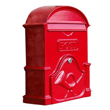 THE MOY A4 DEEP RUBY RED POST BOX