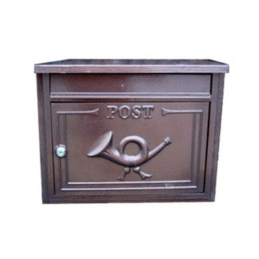 THE DANUBE ANTIQUE BRONZE THROUGH THE WALL LETTERBOX