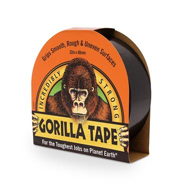 Gorilla Tape Black (DUCT TAPE) 48mm x 32 Metre