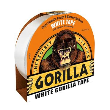 GORILLA TAPE WHITE (DUCT TAPE) 48MM X 27 METRE