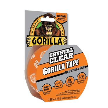 Gorilla Tape Crystal Clear 48mm x 8.2 Metre