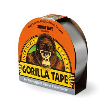 Gorilla Tape Silver (Duct Tape) 48mm x 32 metre