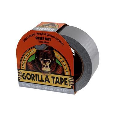 Gorilla Tape Silver (Duct Tape) 48mm x 11 metre