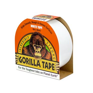 Gorilla Tape White (Duct Tape)  48mm x 10 metre