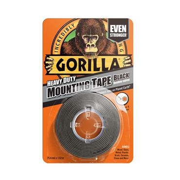 Gorilla Heavy-Duty Double Sided Mounting Tape Black 25.4mm x 1.52m