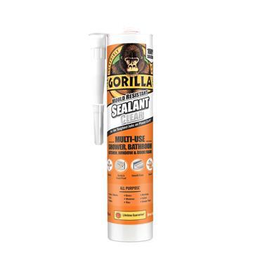 Gorilla Mould Resistant Clear Silicone Sealant 295ml