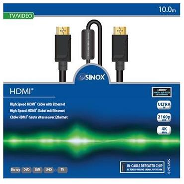 Sinox 10 Metre High Speed HDMI Cable with Ethernet
