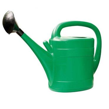 plastic watering can and rose 10 litre