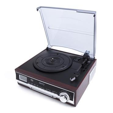 Camry Record Player Turntable Radio - Black Wood | CAM1168