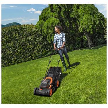Worx 20V 34cm Cordless Battery Lawnmower + 25cm Grass Strimmer   270501