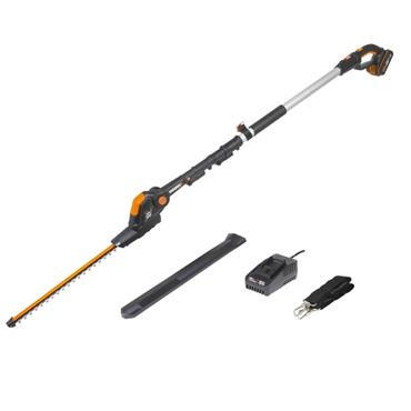 Worx Powershare 20V Cordless Pole Hedge Trimmer 45cm with 2.0ah Battery | WG252E