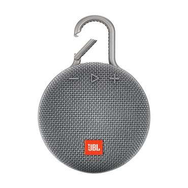 JBL Clip 3 Wireless Portable Bluetooth Speaker - Grey | JBLCLIP3GRY