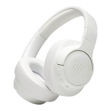 JBL Tune Wireless Noise Cancelling Over Ear Bluetooth Headphones - White   JBLT750BTNCWHT
