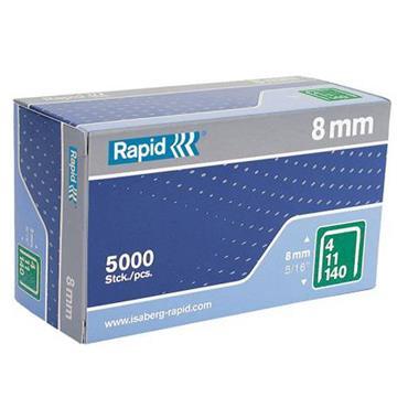 Rapid 140/8 8mm Galvanised Staples Box 5000 | RPD1408B5