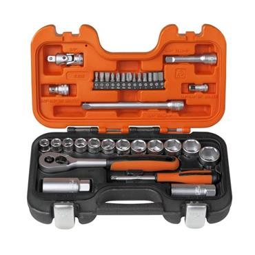 bahco S330 Socket Set of 34 Metric 1/4in & 3/8in Drive | XMS21SOCK38