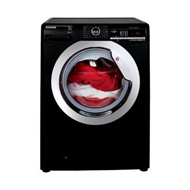 Hoover 8kg 1400 Spin Washing Machine with One Touch - Black/Chrome | DXOA48C3B