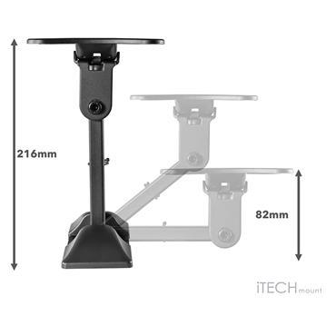 "Itech Full Motion Single Arm Wall Mount TV Bracket for 13"" - 27"" | LCD32B"