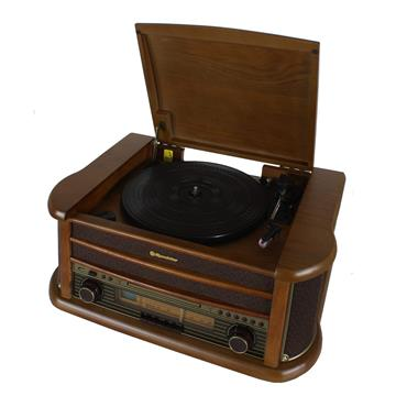 Roadstar Retro Wood Turntable Radio CD MP3 and Bluetooth | ROAHIF-1993BT