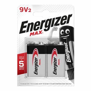 Energizer Max 9V Battery 2 Pack (Smoke Alarm Battery)   XMS21BATT9V
