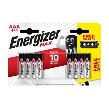 Energizer AAA Batteries 4+4 (8 Pack)   XMS21BATTAAA