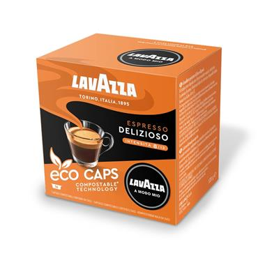 Lavazza Espresso Delizioso Compostable Coffee Pods Capsules 16 Pack | 8971