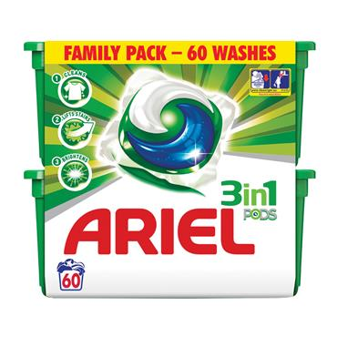ARIEL 3 IN 1 REGULAR PODS 60 PACK