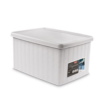 Elegance Large Storage Box - White (39x29x21cm) | 55234