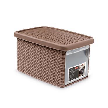 Elegance Small Storage Box with Door - Brown (29x19x16cm) | 55239