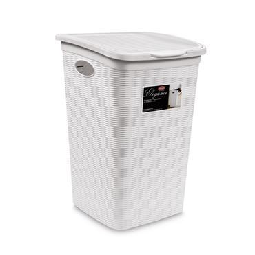 Elegance Laundry Basket - White (54x38x37cm) | 55248