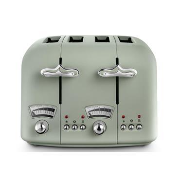 Delonghi Argento Flora 4 Slice Toaster - Green   CT04.GR