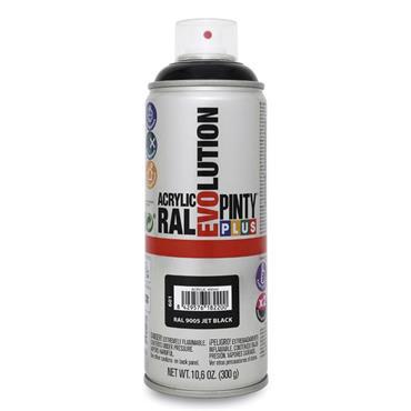 Pinty Plus Evoultion Spray Paint 400ml - Jet Black   PP182200