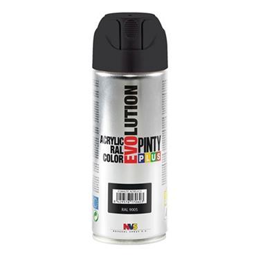 Pinty Plus Evoultion Spray Paint 400ml - Matt Black   PP184204