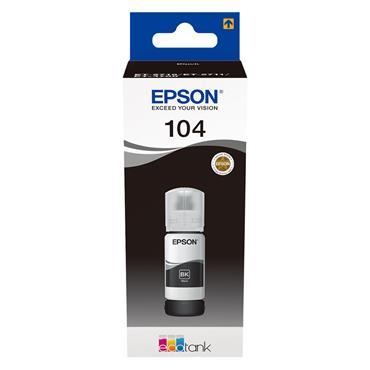 Epson Ecotank 104 65ml Ink - Black | C13T00P140