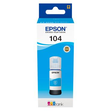 Epson Ecotank 104 65ml Ink - Cyan | C13T00P240