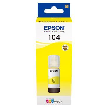 Epson Ecotank 104 65ml Ink - Yellow | C13T00P440