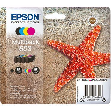 Epson Starfish 603 CMYK Printer Ink Multipack | C13T03U64010