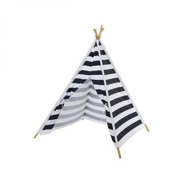 Navy & White Strip Teepee Plat Tent