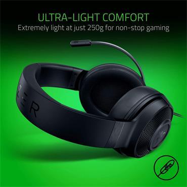 Razer Kraken X 7.1 Gaming Headset with Mic - Black | 36-RZ04-02890100-R3M