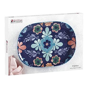Maxwell & Williams Majolica 33cm Blue Platter | DR0268