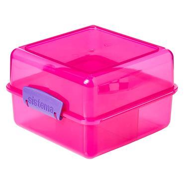 Sistema Itsy Bitsy Lunch Box Cube - Pink | 31735