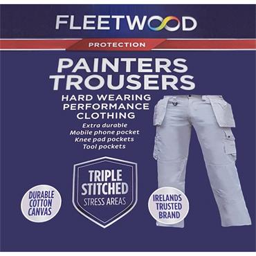 Fleetwood Painters Work Trousers - White