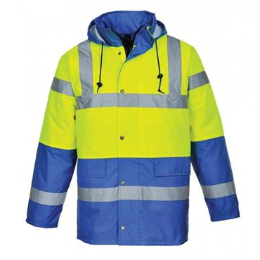 CONTRAST TRAFFIC JACKET | (YELLOW / ROYAL)
