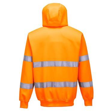 Portwest Hi-Vis Zip Front Hoodie - Orange