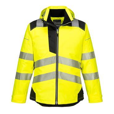 Portwest Pw3 Hi-Vis Winter Jacket - Yellow/Black