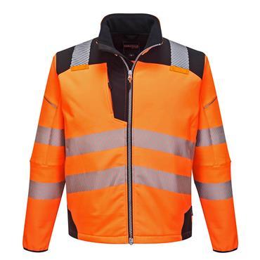 Portwest Pw3 Hi-Vis Softshell Jacket - Orange/Black