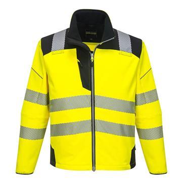 Portwest Pw3 Hi-Vis Softshell Jacket - Yellow/Black