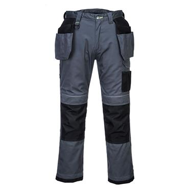 Portwest PW3 Holster Work Trouser - Grey/Black
