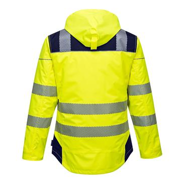 Portwest Pw3 Hi-Vis Winter Jacket - Yellow/Navy