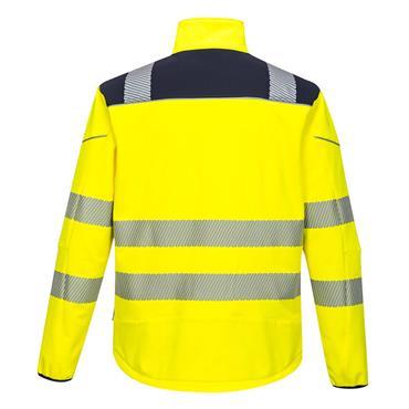 Portwest Pw3 Hi-Vis Softshell Jacket - Yellow/Navy