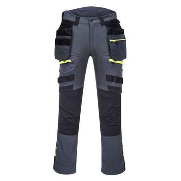 Portwest DX4 Detachable Holster Pocket Work Trouser - Metal Grey